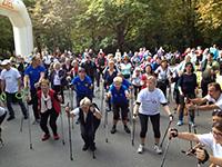 Aufwärmen für den Nordic City Walk